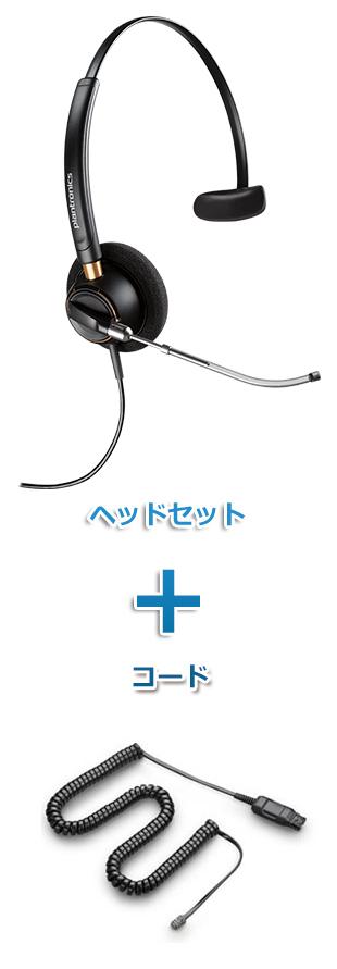 【送料無料】Plantronics(プラントロニクス) HW510V-49323-46 ヘッドセット(特定電話機用 HW510V・HICケーブル 49323-46)