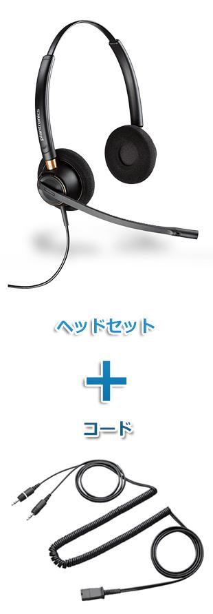 【送料無料】Plantronics(プラントロニクス) HW520-28959-01 ヘッドセット(HW520・PC接続ケーブル 28959-01)