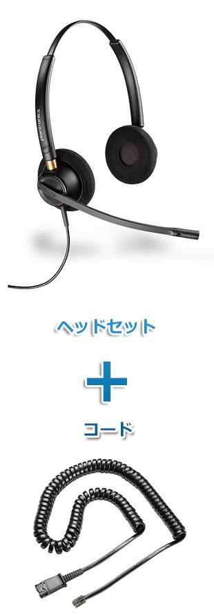 【送料無料】Plantronics(プラントロニクス)ヘッドセット(特定電話機用 HW520・38099-01 ポラリス反転ケーブルセット)