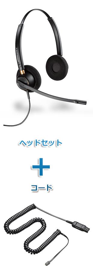 【送料無料】Plantronics(プラントロニクス) HW520-A10-16 ワイドバンドヘッドセット(特定電話機用 HW520・A10-16ケーブルセット)