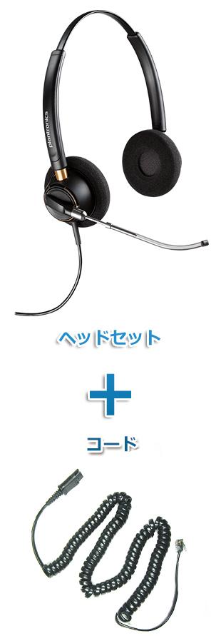 【送料無料】Plantronics(プラントロニクス)ヘッドセット(特定電話機用 HW520V・27190-01 ポラリス用ケーブルセット)