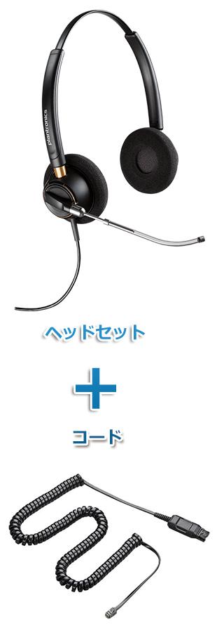 【送料無料】Plantronics(プラントロニクス) HW520V-A10-16 ワイドバンドヘッドセット(特定電話機用 HW520V・A10-16ケーブルセット)