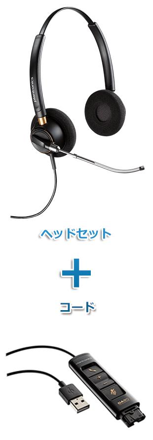 【送料無料】Plantronics(プラントロニクス)ヘッドセット(USB接続 HW520V・DA80 USBヘッドセットアダプター)