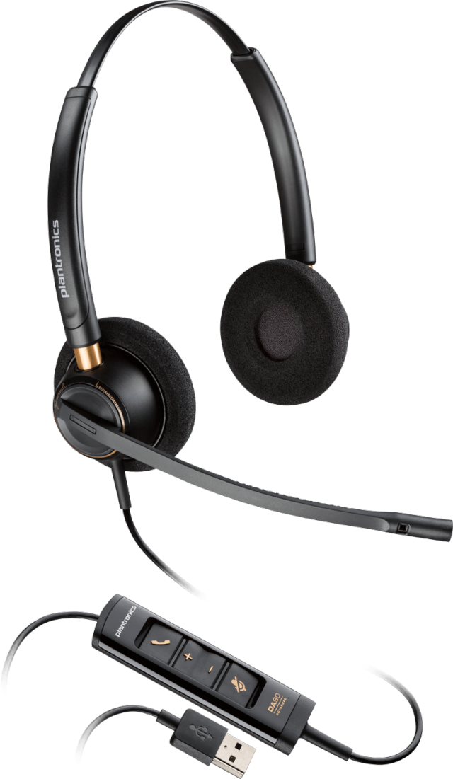 【送料無料】Plantronics(プラントロニクス) HW525 USB 両耳タイプオーバーヘッド、ノイズキャンセル機能 USBヘッドセット