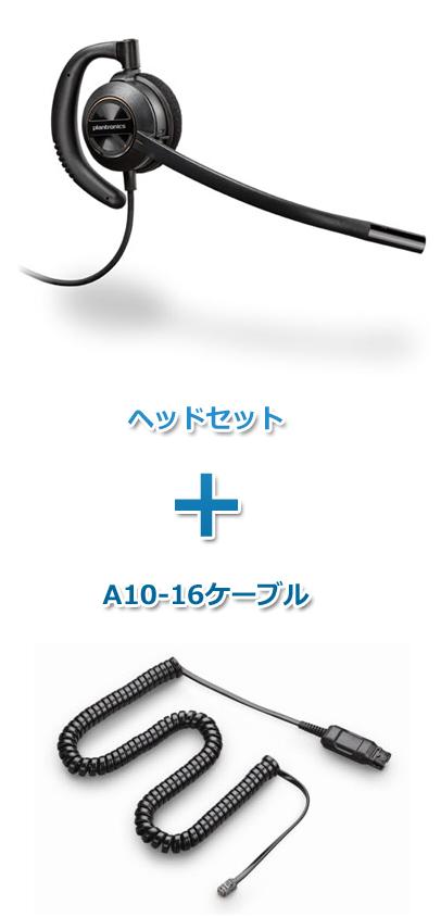 【送料無料】Plantronics(プラントロニクス) HW530-A10-16 ヘッドセット(特定電話機用 HW530・A10-16ケーブルセット)
