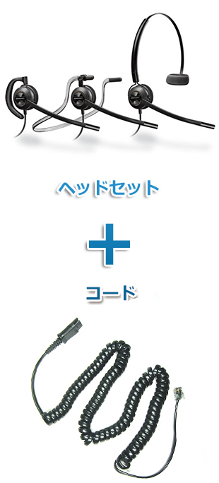 【送料無料】Plantronics(プラントロニクス)ヘッドセット(特定電話機用 HW540・27190-01 ポラリス用ケーブルセット)