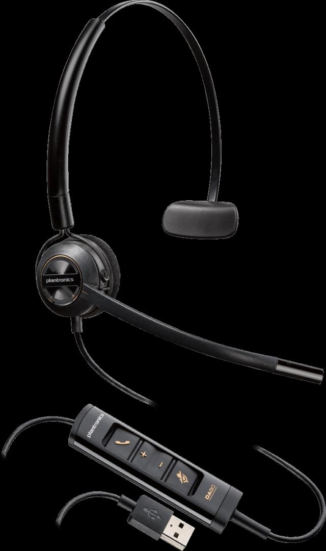 【送料無料】Plantronics(プラントロニクス) HW545 USB 片耳タイプ、コンバーチブル式、ノイズキャンセル機能 USBヘッドセット