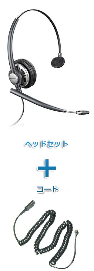 【送料無料】Plantronics(プラントロニクス)ヘッドセット(特定電話機用 HW710・27190-01 ポラリス用ケーブルセット)