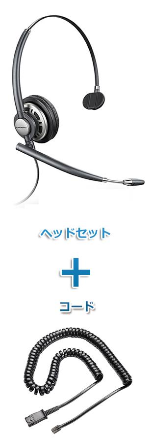【送料無料】Plantronics(プラントロニクス)ヘッドセット(特定電話機用 HW710・38099-01 ポラリス反転ケーブルセット)