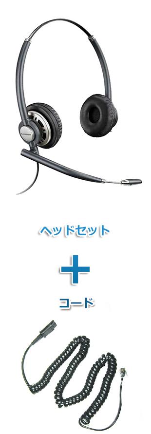【送料無料】Plantronics(プラントロニクス)ヘッドセット(特定電話機用 HW720・27190-01 ポラリス用ケーブルセット)