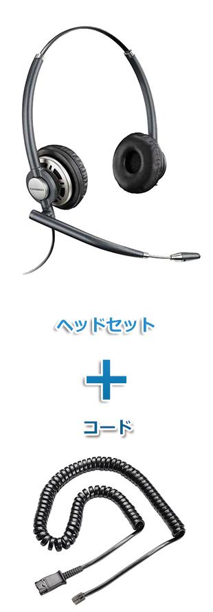 【送料無料】Plantronics(プラントロニクス)ヘッドセット(特定電話機用 HW720・38099-01 ポラリス反転ケーブルセット)
