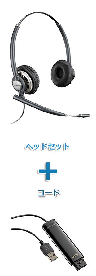 【送料無料】Plantronics(プラントロニクス)ヘッドセット(USB接続 HW720・DA70 USBヘッドセットアダプター)