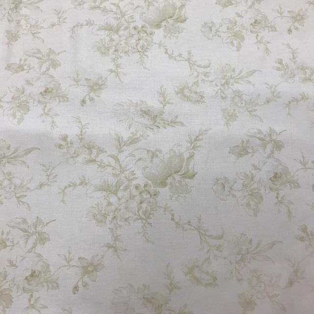 【花柄】【パッチワーク用布】【moda】【メール便可】 ボタニカル柄 グリーン