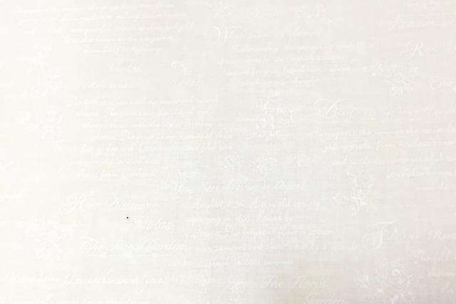 【花柄】【生成り】【パッチワーク用布】【YUWA】【メール便可】 英文字Xローズ オフホワイト