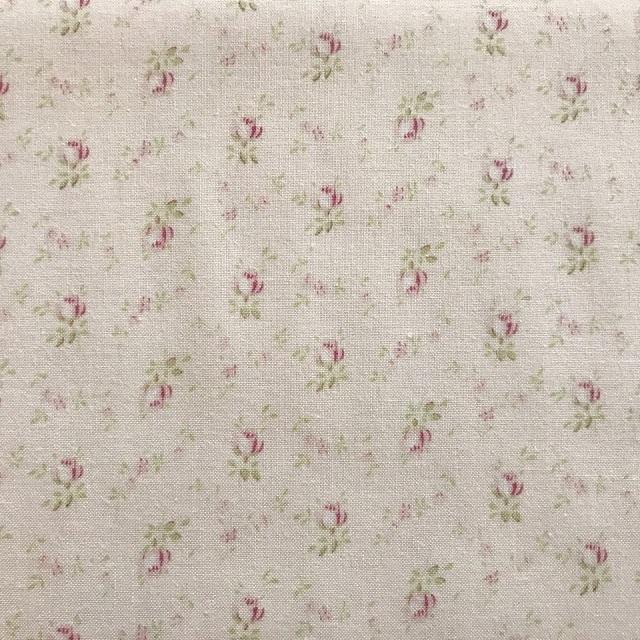 【花柄】【パッチワーク用布】【YUWA】【メール便可】  シャーティングfairyrose  ミニ薔薇 ピンク
