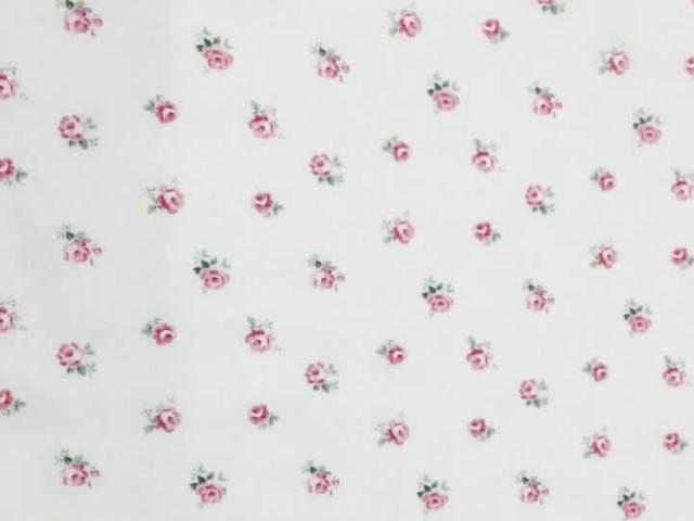 【花柄】【パッチワーク用布】【YUWA】【メール便可】小花柄 ローズ オフ白×ピンク 10 cm