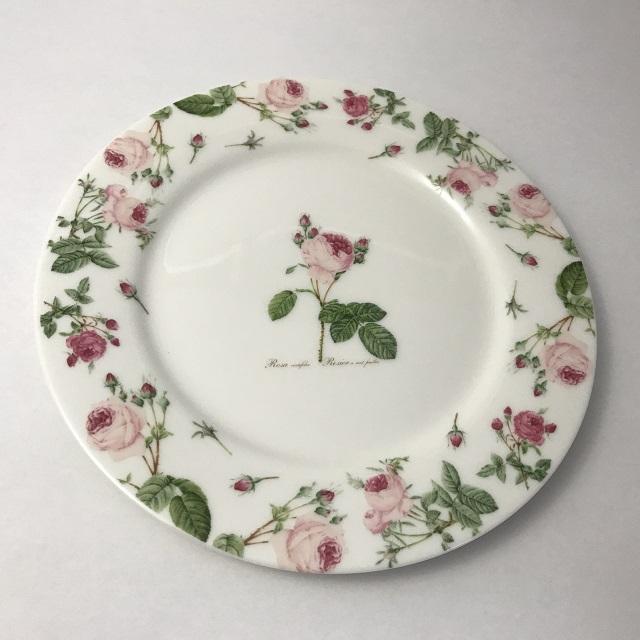 【ルドゥーテ】【薔薇柄】【陶磁器】 ルドゥーテ バラ柄 ケーキ・プレート