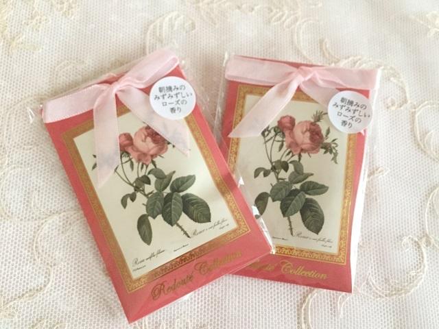 【ルドゥーテ】【薔薇柄】【サシェ】【メール便可】 ルドゥーテ サシェ ピュアローズ