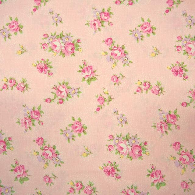 【花柄】【パッチワーク用布】【YUWA】【メール便可】シャーティング sugared flowers ピンク