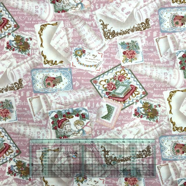 """【X'mas】【YUWA】【メール便可】クリスマスコレクション シャーティング 50's Wrap""""Noel"""" スモークピンク"""