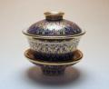 【中国茶具】タイ・ベンジャロン焼蓋碗