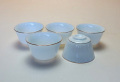 【中国茶具】白磁金線小茶杯