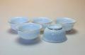 【中国茶具】白磁金線茶杯