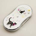 黒猫と三日月くろ猫LEDライト付きスライドルーペ京都職人手書き