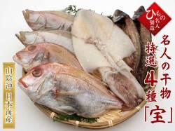 名人の干物 4種(連子鯛入り)詰合-宝 【送料無料】