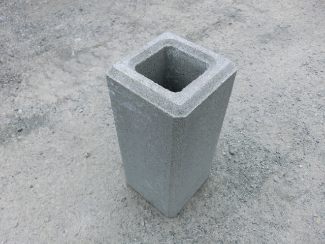 フェンス基礎ブロック 200角×H450  26kg 【送料別】