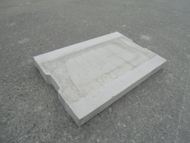 U字溝 150用 蓋 (歩道用)  10kg/枚 【送料別】  サイズ 幅210mm 長さ600mm 厚み35mm