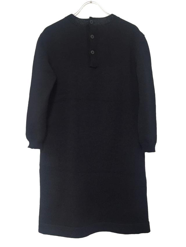 ニット、ワンピース、ウール、ジャカード、長袖