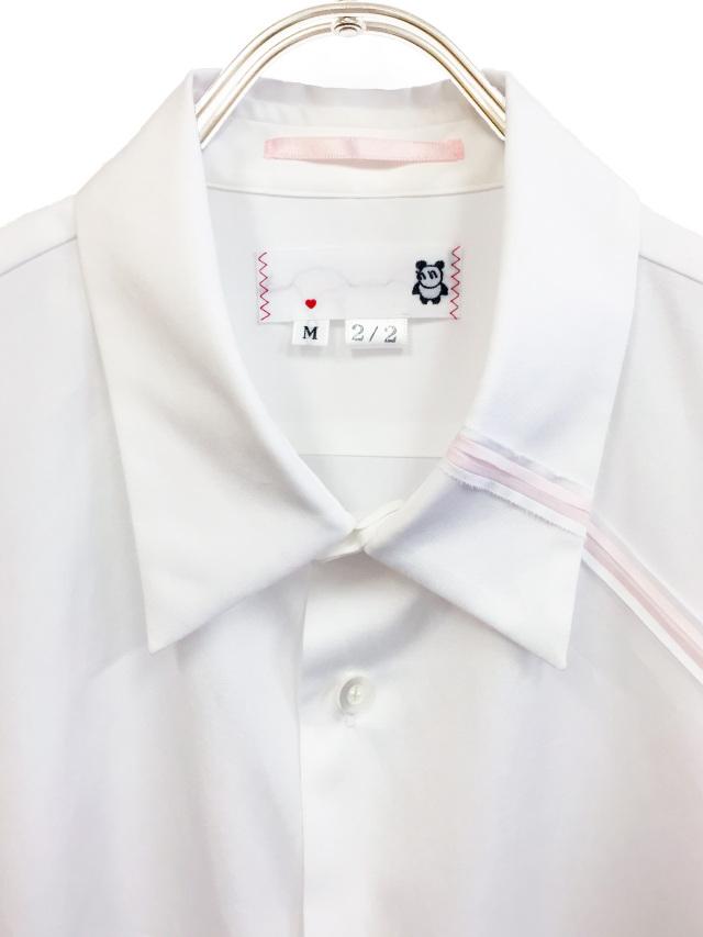 パッチワーク,裁ち切り,長袖,シャツ,ハンドメイド
