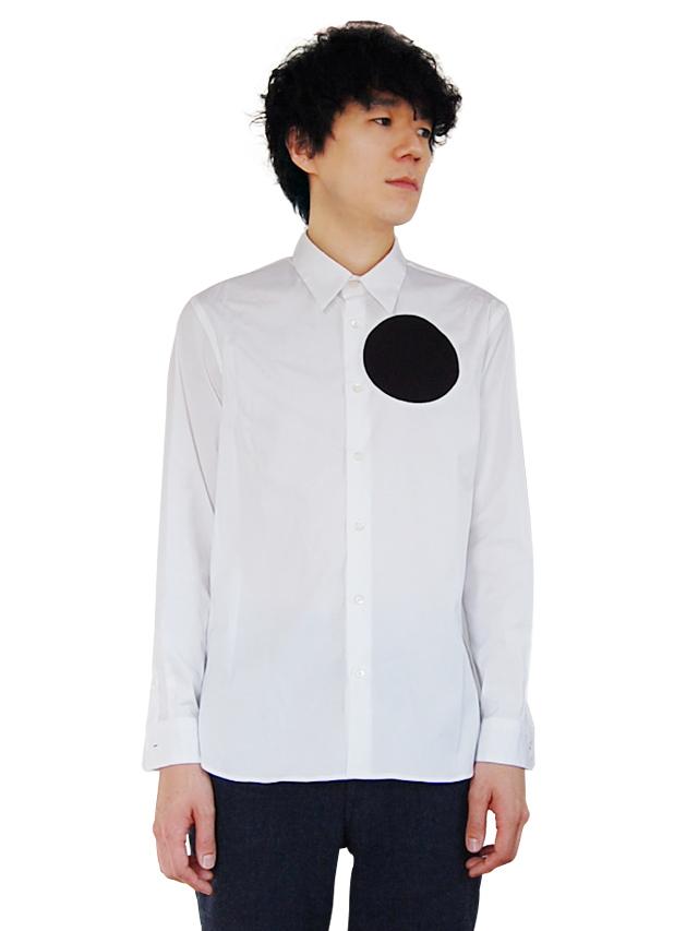 100/2ストレッチブロード ドットシャツ