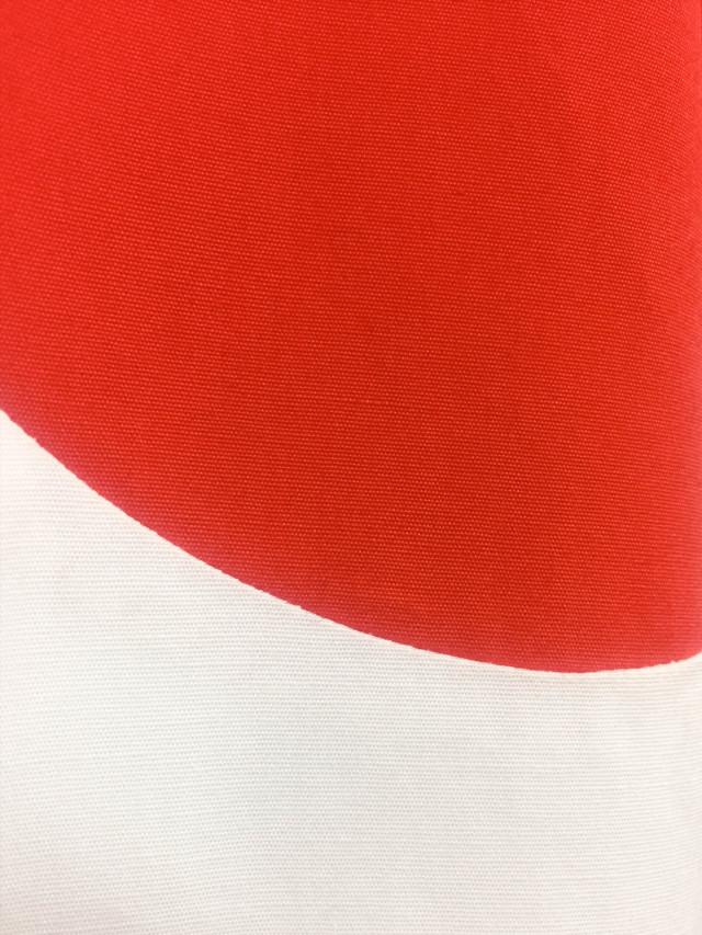 メンズ、シャツ、水玉、ブロード、日の丸