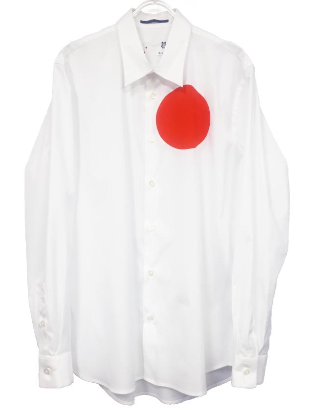メンズ、シャツ、水玉、綿、日の丸