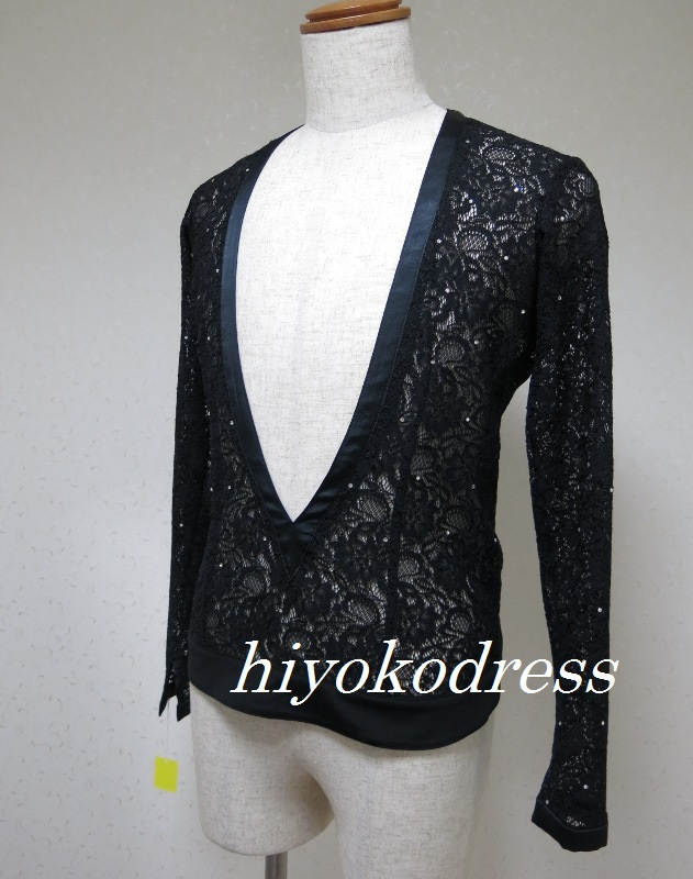 L1065 メンズ 英国製 黒ラテン衣装
