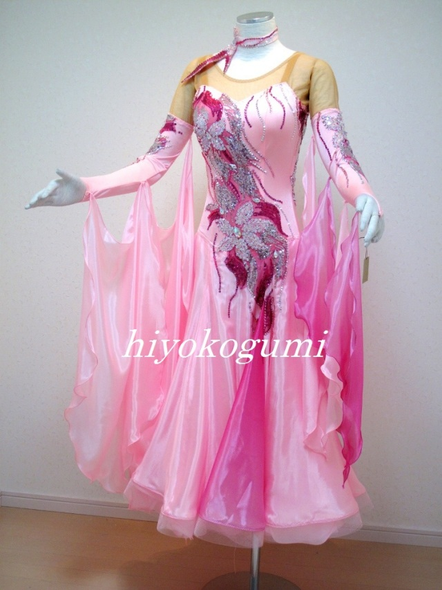 M837 ピンクのグラデーションのスタンダードドレス