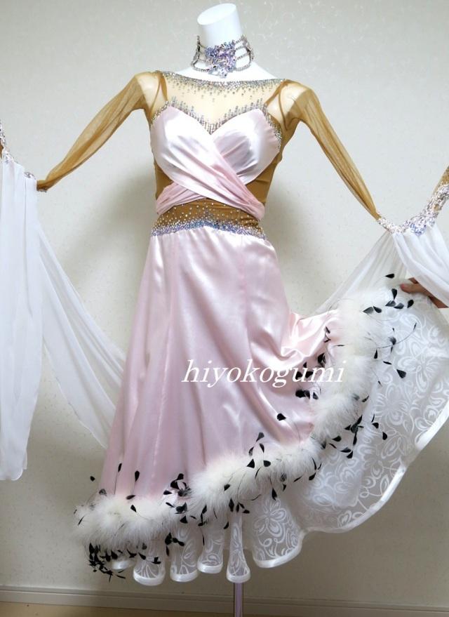 M937 ピンクのスタンダードドレス(ファー付き)