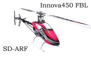 INNOVA450SD(シャフトドライブ) フライバーレス ARFキット KBAR-MINI仕様(白ピンクキャノピー)