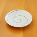 【和食器通販ショップ藍土な休日】田森陶園のシンプルな丸皿! うず刷毛4寸皿