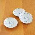 【和食器通販ショップ藍土な休日】田森陶園のシンプルな丸皿! うず刷毛2.5寸皿