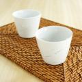 【和食器通販ショップ藍土な休日】波佐見焼 光春窯 ホタル彫りめだかカップ