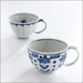 【和食器通販ショップ藍土な休日】工房禅 横田 勝郎  染付スープカップ