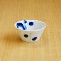 【和食器通販ショップ 藍土な休日】 有田焼 一峰窯 染付 輪花 反鉢(S) ボウル