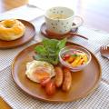 【和食器通販ショップ藍土な休日】木製プレート ラウンドディッシュ(26cm)