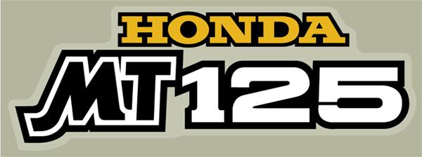 Honda MT125 サイドパネルデカール(EA)