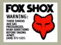 Fox Gas Shox デカール(PR)