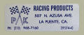 PK Racing Address デカール