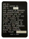 Suzuki TM125 Head Tube デカール